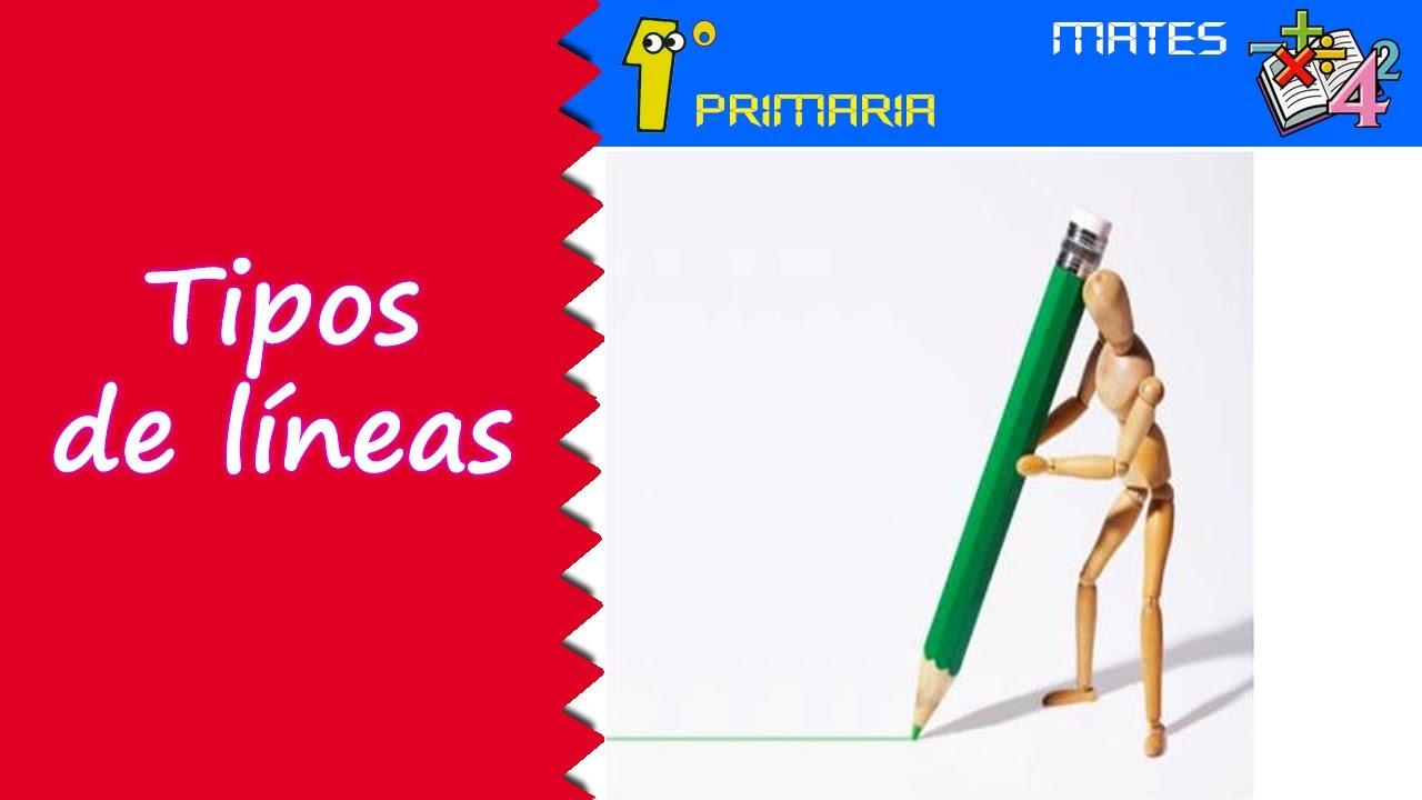 Matemáticas. 1º Primaria. Tema 5: Tipos de líneas