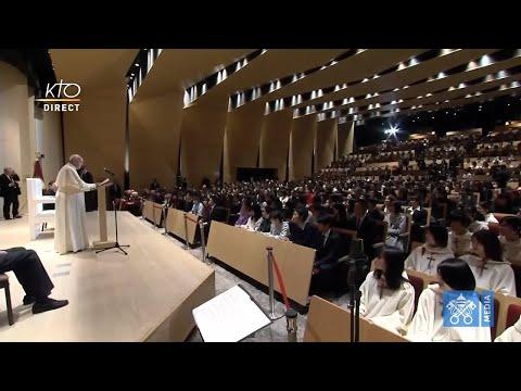 Visite du pape François à la Sophia University de Tokyo