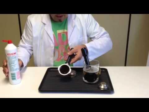 Limpieza del porta filtros de café