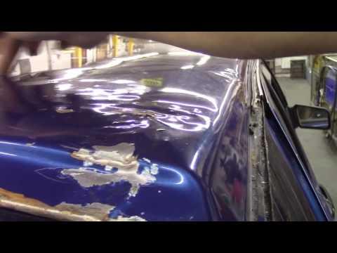Кузовной ремонт. Крыша ВАЗ 2114. Body repair.