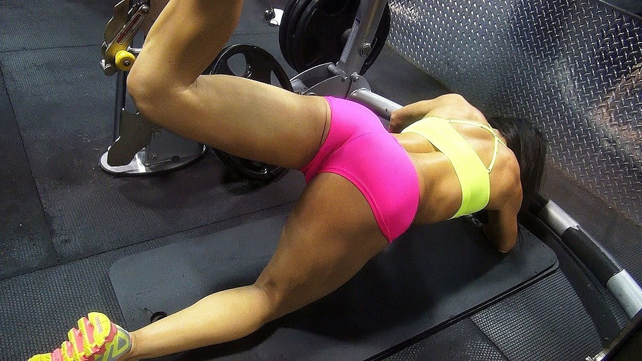 Women's Gym Workout: Butt, Legs, Abs, Arms. Part 2