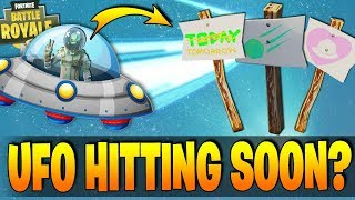 Fortnite - UFO TO HIT MAP TOMORROW? - All New Clues Found At TILTED TOWERS - New Datamined Outfits