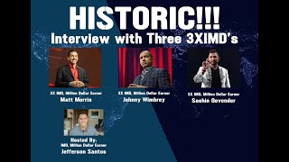 Worldventures Triple IMD webinar - Jefferson Santos, Johnny Wimbrey, Matt Morris and Sashin Govender