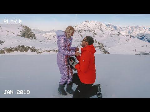 THE PERFECT PROPOSAL AT THE TOP OF THE MOUNTAIN, TIGNES, FRANCE