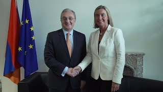Rencontre entre Zohrab Mnatsakanyan et Federica Mogherini