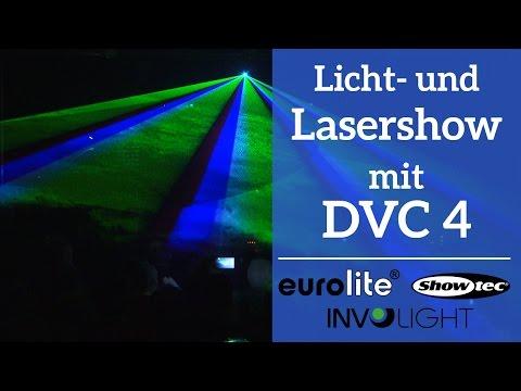 Licht- und Lasershow mit Daslight 4 DVC 4    Gig Showcase
