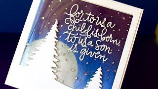 Window Tri-Fold Christmas Card