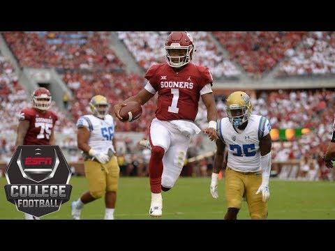 College Football Highlights  Oklahoma QB Kyler Murray accounts for 5  touchdowns against UCLA  1e3a0abe0