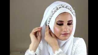 Simple Bridal Hijab Tutorial