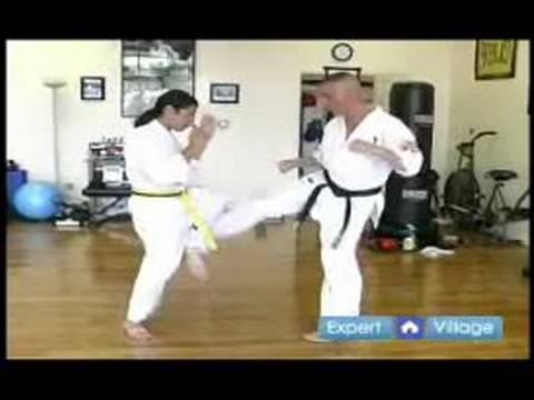 Advanced Kyokushin Karate Techniques : How to Block One Two Low Kick Kyokushin Combo Attack