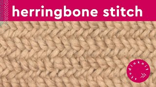 Herringbone Stitch | Cable Knitting Pattern