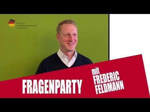 FRAGENPARTY mit unserem Geschäftsführer Frederic Feldmann