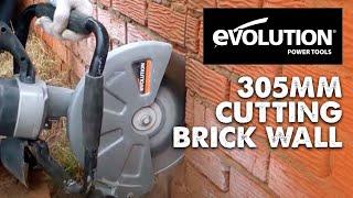 Evolution 305mm Disc Cutter: Cutting a red brick wall in half!