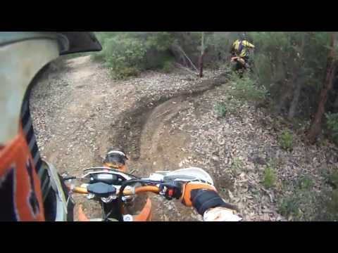 KTM 500 EXC and Husaberg FE501 2013 riding enduro 4 st