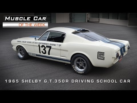 1965 Shelby GT 350 R Racing School Car Video
