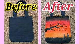 DIY | EP.39 Decorate Painting  Jean Bag Handmade .Acrilic Painting.Art. Doodle  | Katay DIY
