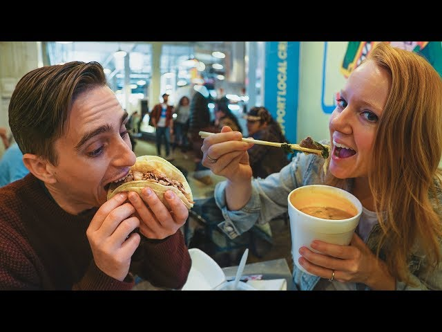 Food Tour at LOS ANGELES GRAND CENTRAL MARKET! + Road Trip to Joshua Tree
