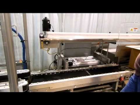 Adjustable Product Conveyor Height on Hand Pack Station