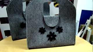 01c8836cef0d7 Super modna torebka filcowa! Torba na ramie z filcu z ozdobami.