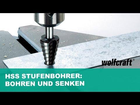 HSS Stufenbohrer: Bohren und Senken in 1 Schritt | wolfcraft