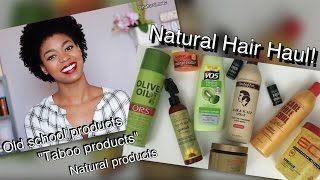 """Buying """"Taboo"""" Products for Natural Hair?  My End of Year Hair Haul & Chat 2016! - 4C Hair"""