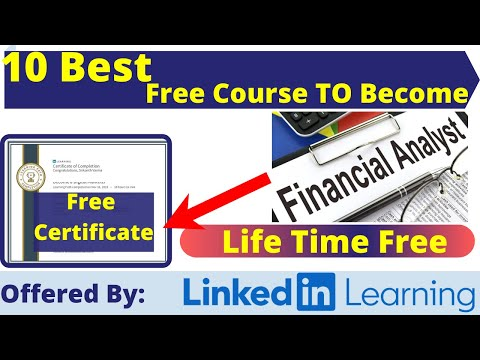 Best 10 Free Certification Courses To Become a Financial Analyst ...