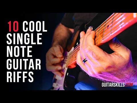 Electric Guitar For Beginners - 10 Cool Single Note Guitar Riffs