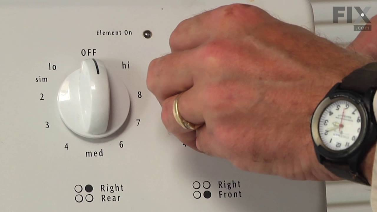 Replacing your Frigidaire Range Infinite Burner Switch - Small Element - 240V