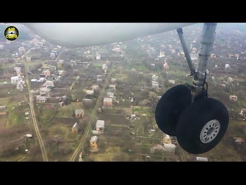 Short Runway!!! Antonov 26 spot-on landing seen from cargo bay window, Air Urga [AirClips]