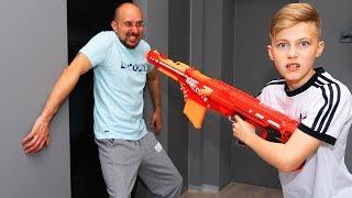 Гро VS папа...  Nerf RESTART.  Dad against...