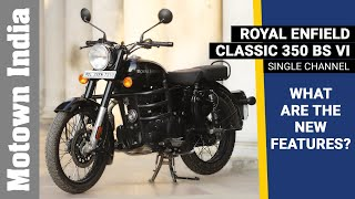 2020 BS6 Royal Enfield Classic 350 Single Channel | What are the new features? | Motown India