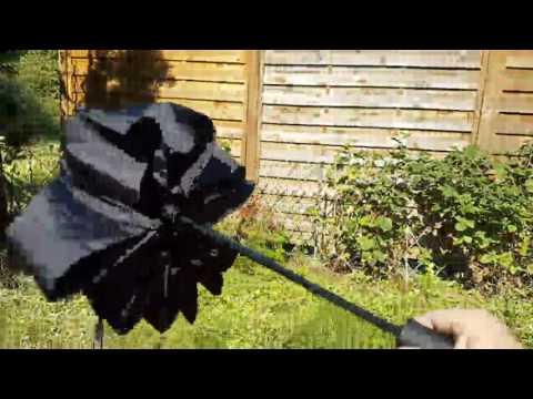 Regenschirm Auf Zu Automatik Taschenschirm Winddicht mit 10 Fiberglas Gestänge und 100cm Durchmesser