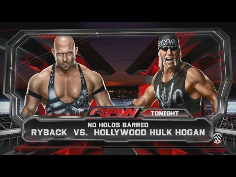 Ryback Vs. Hollywood Hulk Hogan - RAW - WWE 2K15