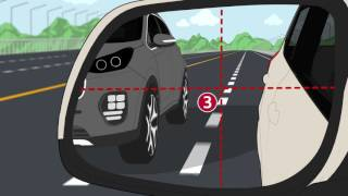 How to use side mirrors when changing lanes