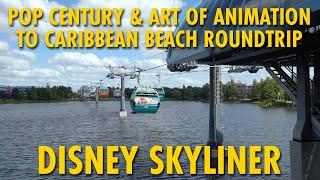 Disney Skyliner Pop Century & Art Of Animation To Caribbean Beach Roundtrip POV
