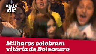 Milhares celebram vitória de Bolsonaro no RJ
