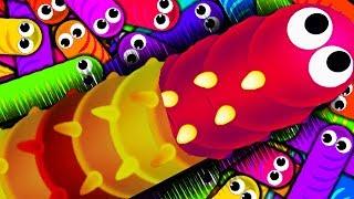 Червь обжора 🐛 wormax.io веселая детская игра про червячков и гусениц от желейный  медведь Валера