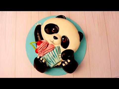 Как сделать детский торт Панда