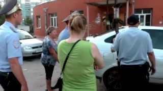 Пьяная женщина за рулем Приоры. Сызрань
