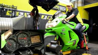 HealTech QuickShifter Easy (QSE) - Dyno Test Run, Kawasaki ZX-12R