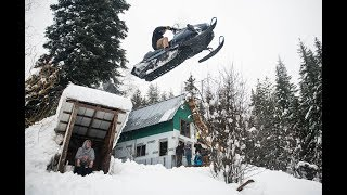 Sending a Snowmobile Over an Outhouse
