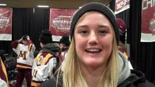 Hockey City Classic Opening ceremony -interview with Golden Gophers Womens team
