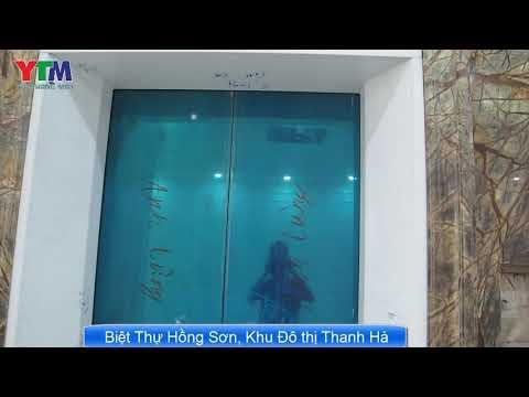 Bóc tem thang máy Biệt Thự Hồng Sơn - Nội Thất sơn son thếp Vàng