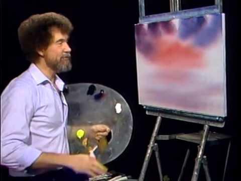 Bob Ross - Malerei roten Himmel - Malerei Video
