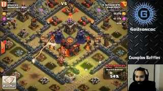 Clash of clans -  Kings rock vs Quantum's web (highlights part 1/2)