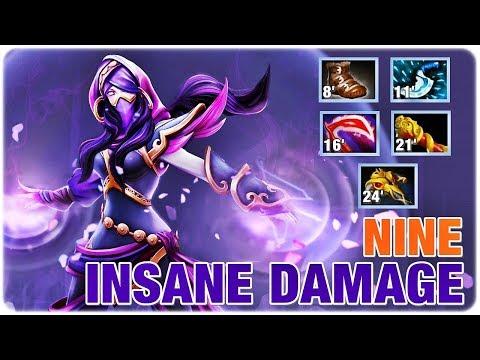 Insane Damage TA EPIC Gameplay NINE Templer Assassin Dota 2