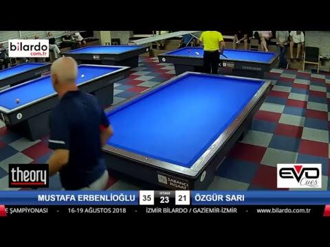 MUSTAFA ERBENLİOĞLU & ÖZGÜR SARI Bilardo Maçı - İZMİR BİLARDO 3 BANT TÜRKİYE ŞAMPİYONASI-2. Tur