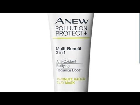 """Тестируем антиоксидантную очищающую маску для лица с глиной """"заряд сияния"""" от Avon"""