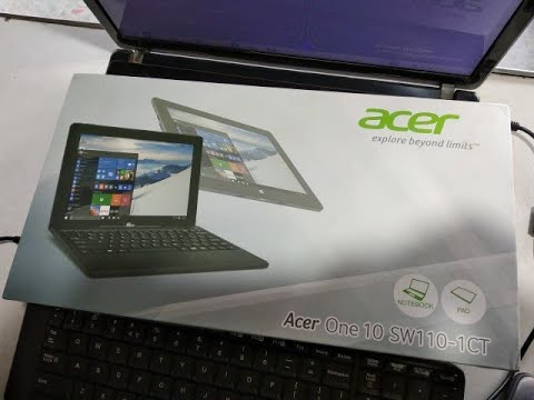 Acer mini laptop unboxing Acer One 10 sw110-1ct
