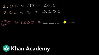 Multiplying and dividing decimals by 10, 100, 1000